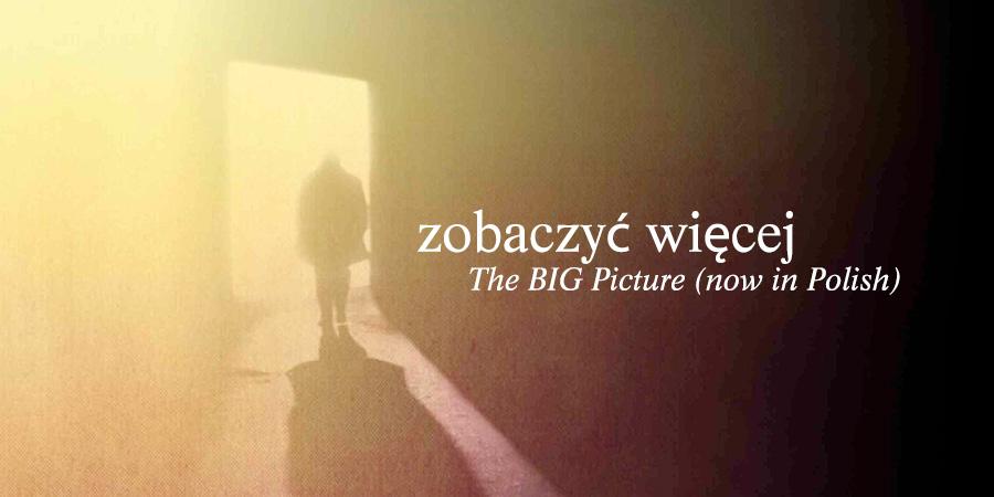 """Polish over graphic from Garry Gilfoy's """"The BIG Picture,"""" """"Zobaczyć Wieçej"""""""